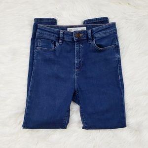 Asos High Rise Medium Wash Skinny Jeans